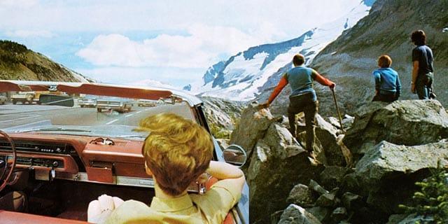 Ruth Habermehl - Mountain Drive, 2012, C-Print nach Collage, 25 x 50cm